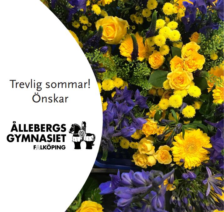 Trevlig sommar önskar Ållebergsgymnasiet!